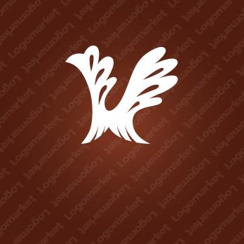 飛躍と羽とVのロゴ