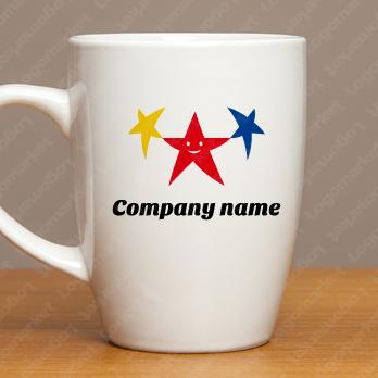 星と信頼とサポートのロゴ