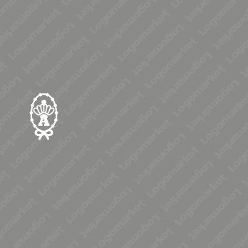 ポップとキュートとエンブレムのロゴ