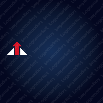 頭が一つでる企業と先端と上昇のロゴ