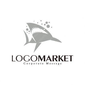 鮫と海とワイルドのロゴ