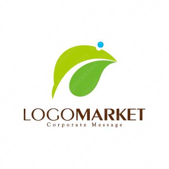 葉と自然環境とエコのロゴ