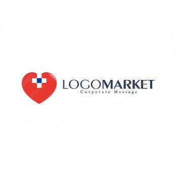 ハートと心臓と安心のロゴ