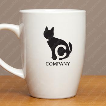 ネコとシンプルとかわいいのロゴ