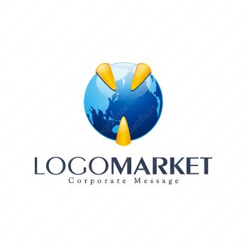 成長と成功とグローバルのロゴ