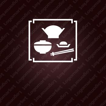 定食とシックとお膳のロゴ