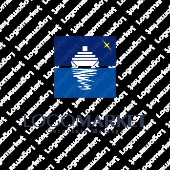 進むと船と世界のロゴ