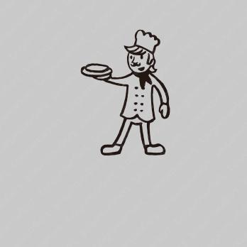 楽しさと料理とレストランのロゴ
