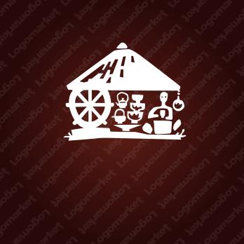 風流と陶芸と手作りのロゴ