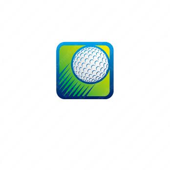 成長とスピードとゴルフのロゴ