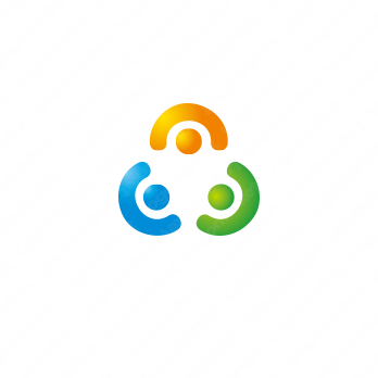 輪と環と信頼関係のロゴ