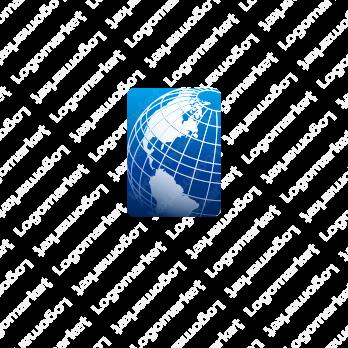 地球と国際的と先進的のロゴ