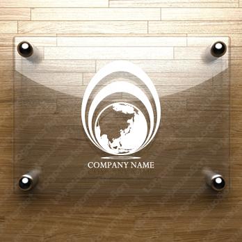 地球とグローバルとクリエイトのロゴ