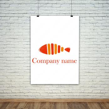 鮮魚と調理とシーフードのロゴ