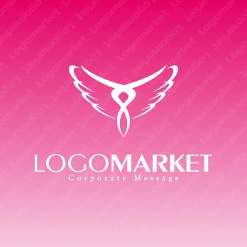 飛翔と羽と再生のロゴ