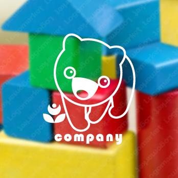 優しいとクマとかわいいのロゴ