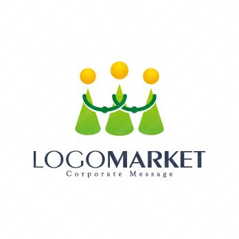協力と信頼とサポートのロゴ