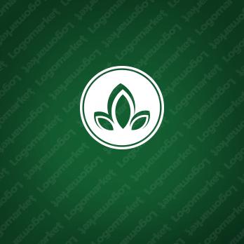花と繁栄と創造のロゴ