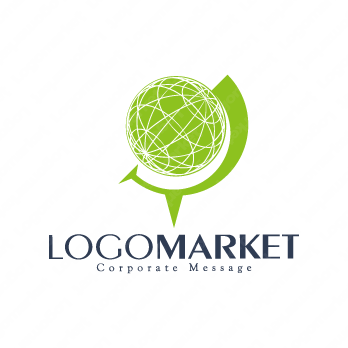 世界とビジネスとグローバルのロゴ