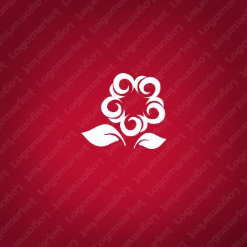 花と星と希望のロゴ