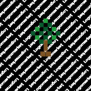 自然と木と成長のロゴ