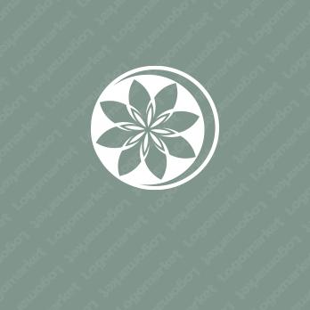 花と上質とエレガントのロゴ