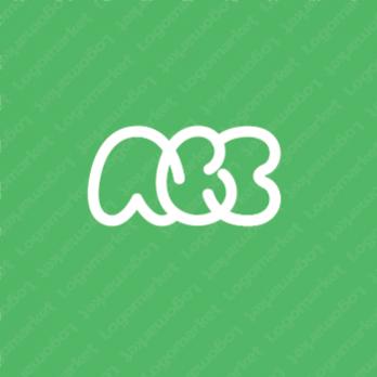 シンプルとかわいいとABCのロゴ