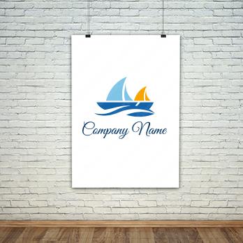 海と挑戦とヨットのロゴ