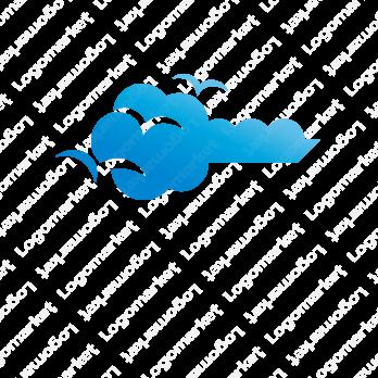 空とセキュリティとクラウドのロゴ