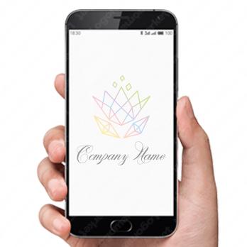 花と宝石とダイヤモンドのロゴ