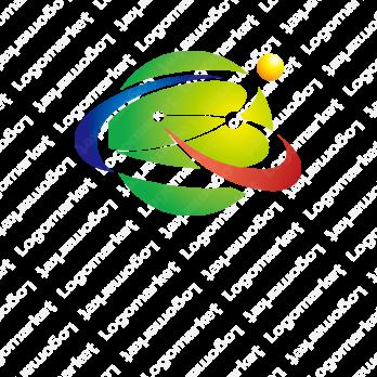 輝きと球体とクラウドのロゴ