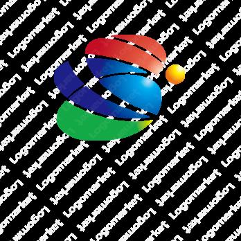 光とカラフルとSのロゴ