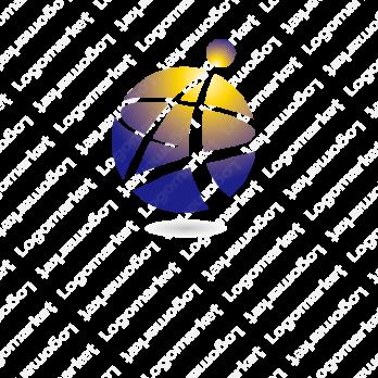球体と星と先進性のロゴ