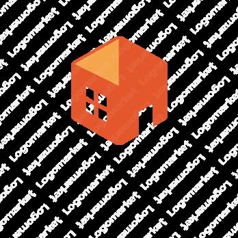 箱と家とキューブのロゴ