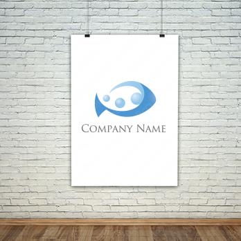 魚と海と泡のロゴ
