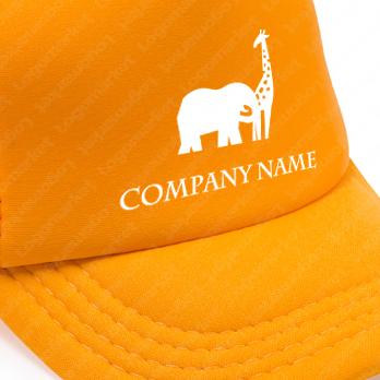 野生動物とユニークとサバンナのロゴ