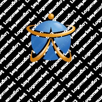 漢字と大と地球のロゴ