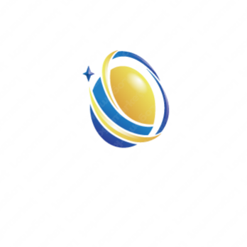 輝きと成功と卵のロゴ