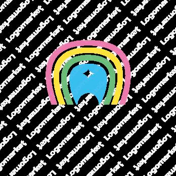 虹色と歯と幸福感のロゴ