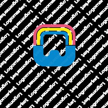 虹と歯とWのロゴ