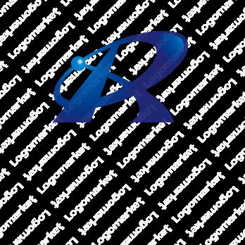Rとスピード感と先進的のロゴ