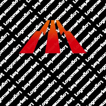 Mと階段と山のロゴ