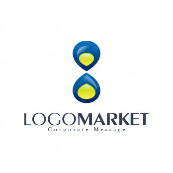 資産と無限大と時間のロゴ