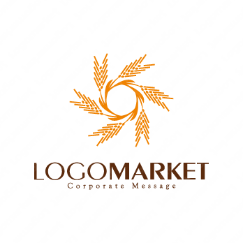 麦の穂と育てると成功のロゴ