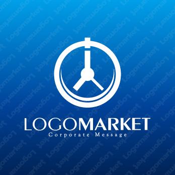 時計と成長性と向上心のロゴ