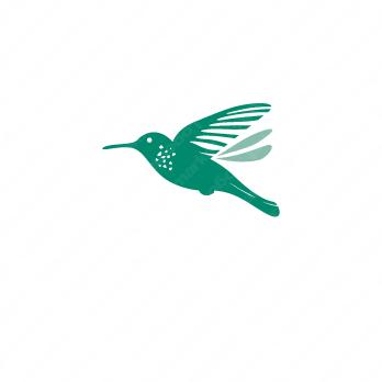 鳥と華やかとキュートのロゴ