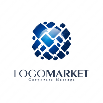 コミュニケーションとグローバルとクリエイティブのロゴ
