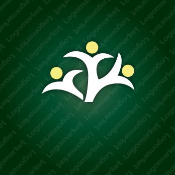 育つと樹と人との繋がりのロゴ