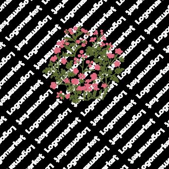 花々と届けると団結のロゴ