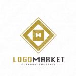Hと菱形とトラディショナルのロゴ